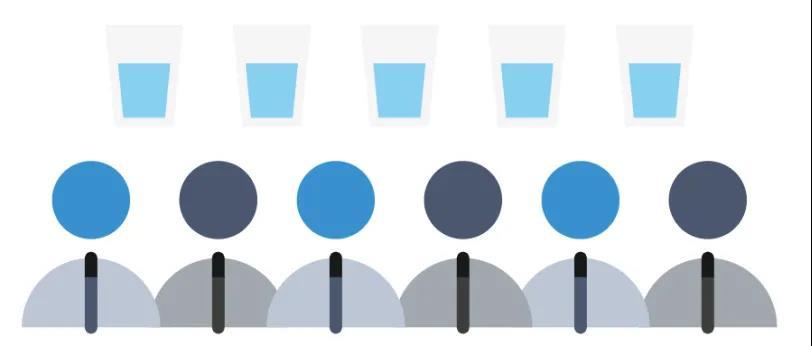 5杯水如何分给6个领导?有正经答案了!